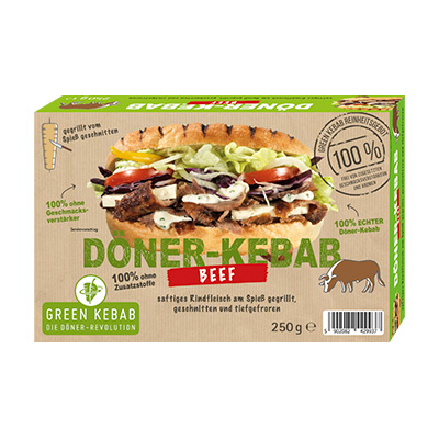 GREEN DÖNER KEBAB grilled BEEF 250g Schachtel